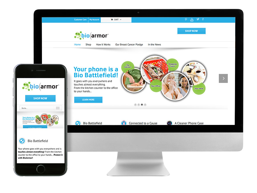 OrangeBall Creative - BioArmor responsive website