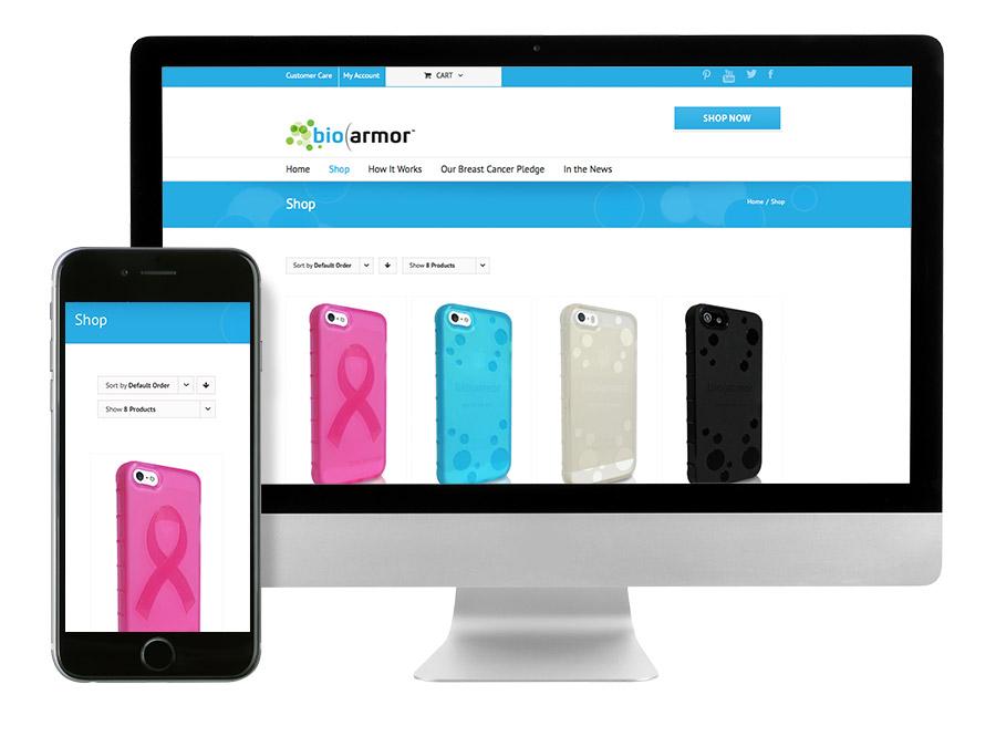 OrangeBall Creative - BioArmor responsive website