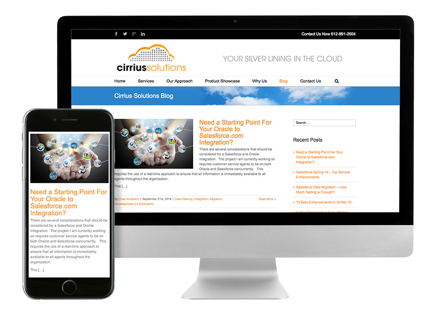 OrangeBall Creative - Cirrius Solutions responsive website