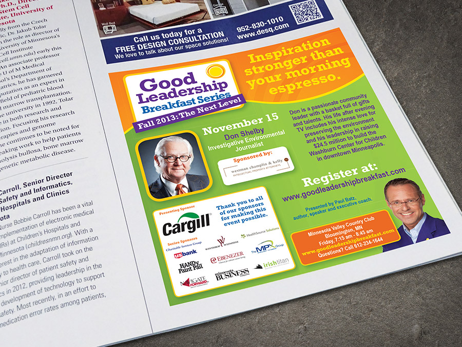 OrangeBall Creative - Good Leadership Enterprises magazine ad