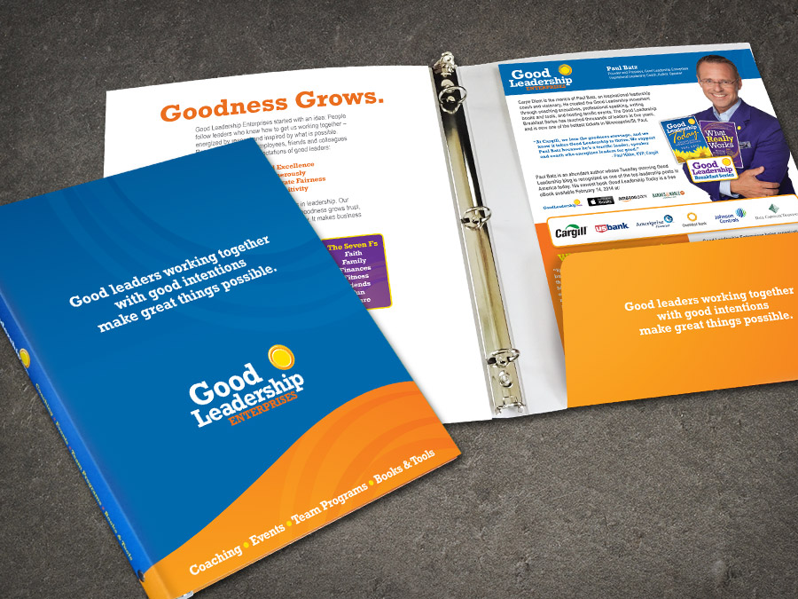 OrangeBall Creative - Good Leadership Enterprises custom print design