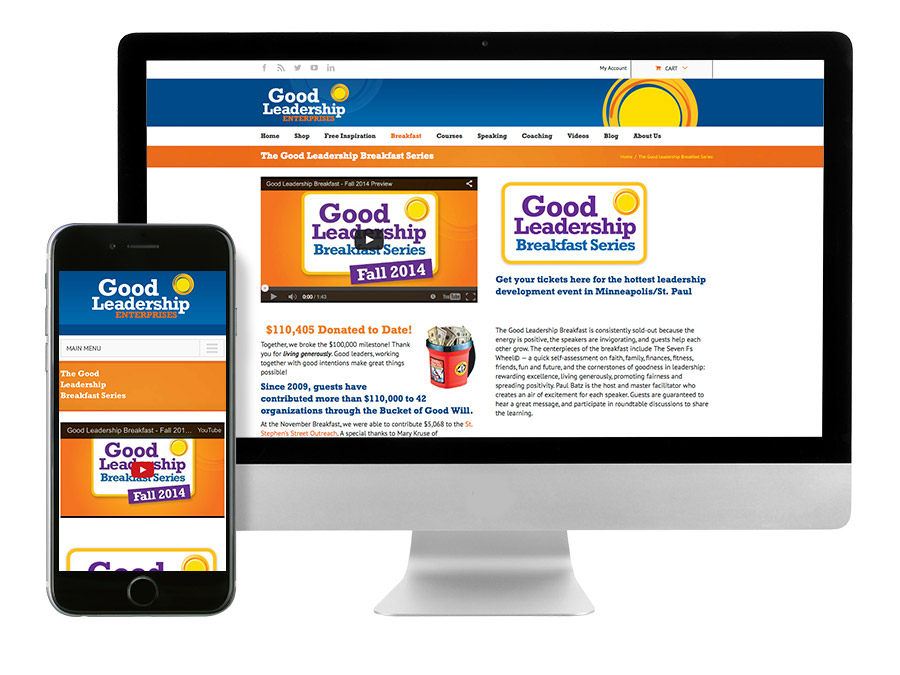 OrangeBall Creative - Good Leadership Enterprises responsive website