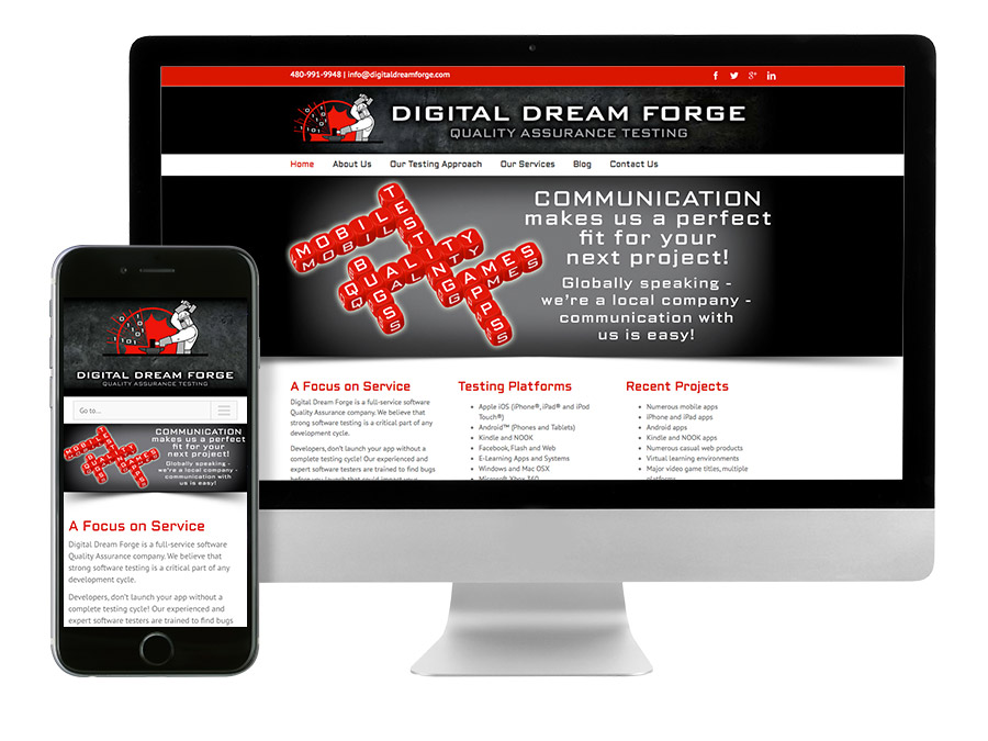 OrangeBall Creative - Digital Dream Forge responsive website