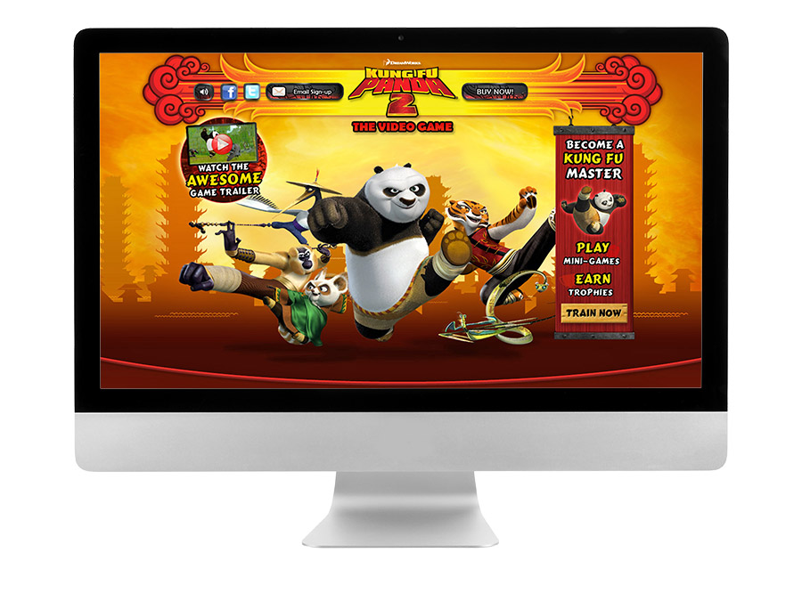 OrangeBall Creative - Kung Fu Panda 2 website