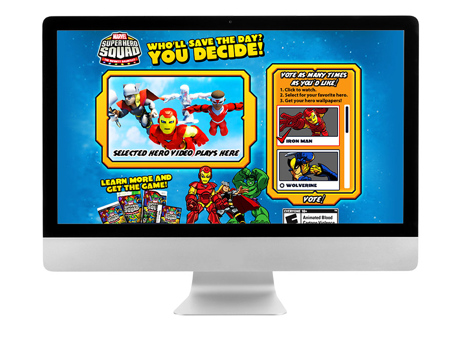 OrangeBall Creative - Marvel Super Hero Squad website