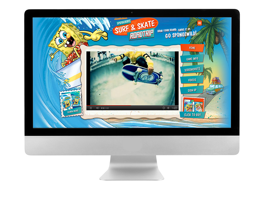 OrangeBall Creative - SpongeBob SquarePants website