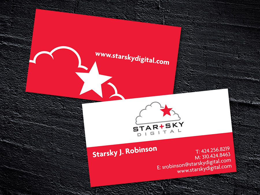 OrangeBall Creative - Logo Design Star+Sky Digital