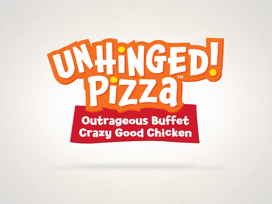 OrangeBall Creative - Logo Design Unhinged Pizza
