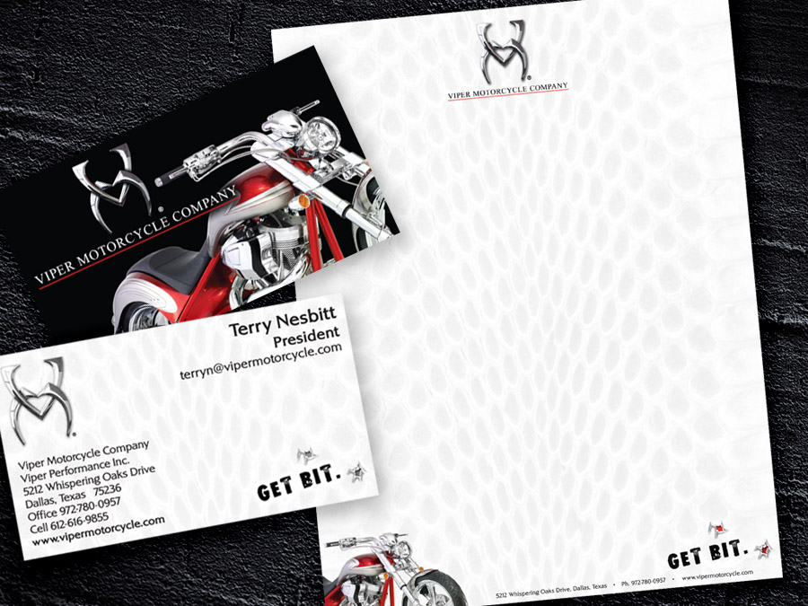 OrangeBall Creative - Print Design Viper Motorcycles