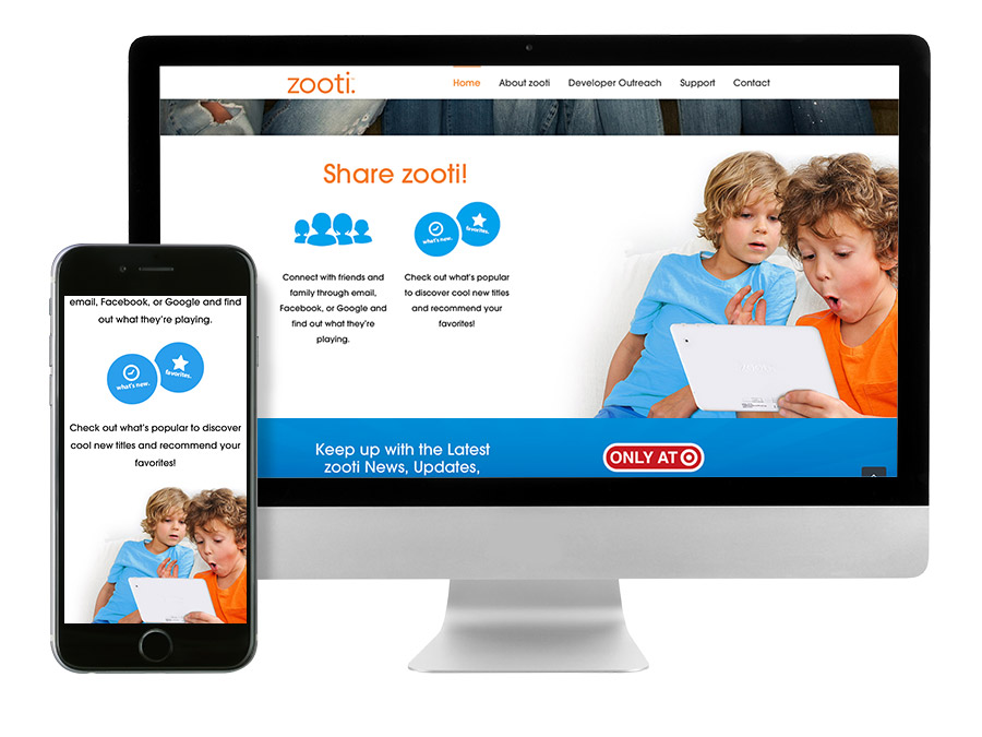 OrangeBall Creative - zooti responsive website