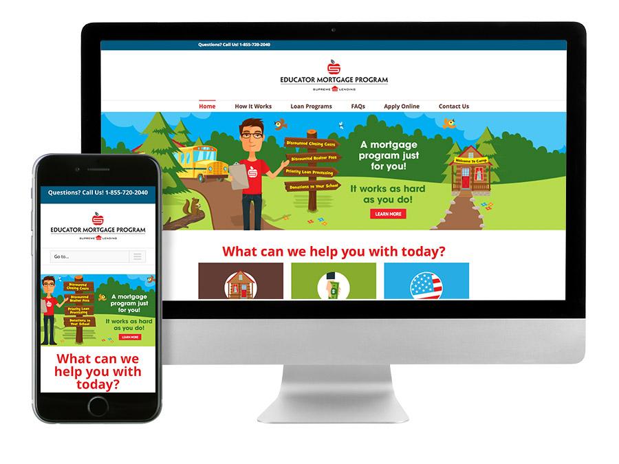 OrangeBall Creative - Website Design and Development - Educator Mortgage
